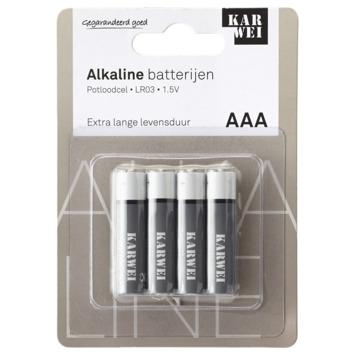 KARWEI Potloodcel Batterij AAA 4 Stuks