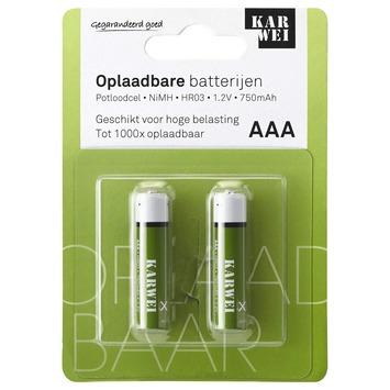 KARWEI potloodcel batterij AAA oplaadbaar (2 stuks)