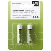 KARWEI Potloodcel Batterij AAA Oplaadbaar 2 Stuks
