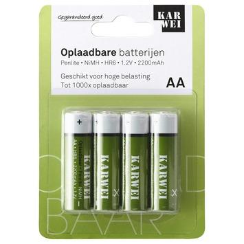 KARWEI penlite batterij AA oplaadbaar  (4 stuks)
