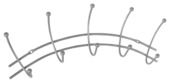 Kapstok Jeanne 5-haaks metaal