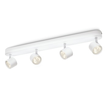 Philips opbouwspot MyLiving Star LED Wit 4 x 4.5W