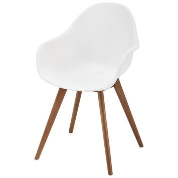 Witte houten karwei stoelen