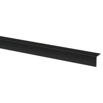 Hoekprofiel kunststof zwart 30x30 mm 260 cm