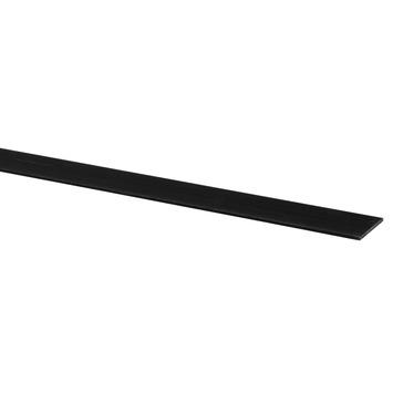 Afdekprofiel kunststof 2x30 mm lengte 260 cm zwart