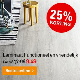 Laminaat functioneel en vriendelijk met 25% korting