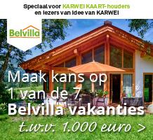 Maak kans op 1 van de 7 Belvilla vakanties t.w.v. 1000 euro.