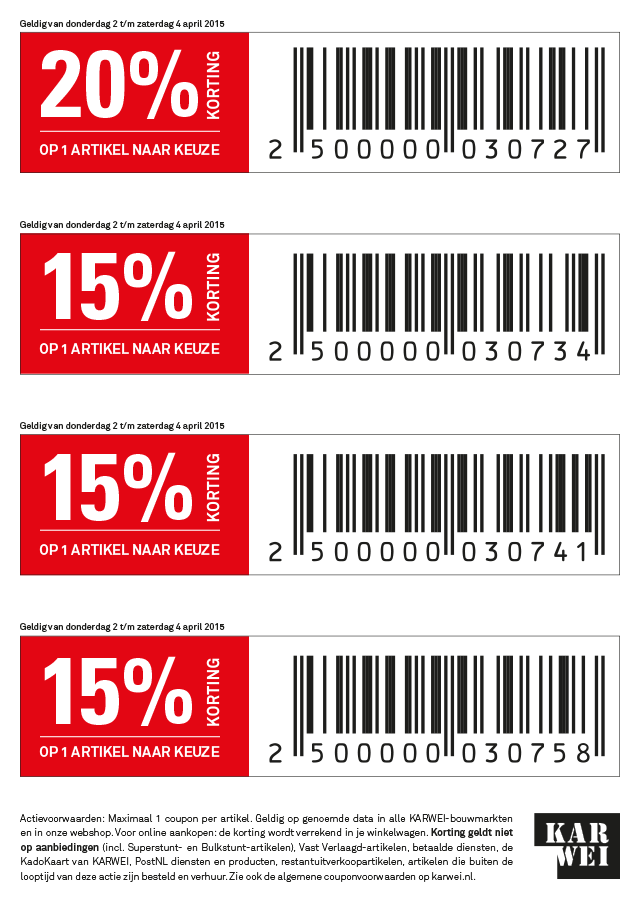 Coupons gratis producten