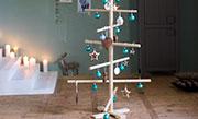 Kerstboom van rondhout