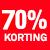 70 procent korting rood