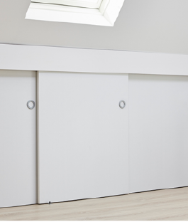 Genoeg Schuifdeurkast onder schuin dak maken? Bekijk het stappenplan | KARWEI #QB55