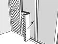 Klem het isolatiemateriaal tussen de staanders.