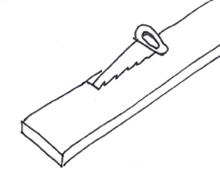 Tafel van steigerhout - Stap 1