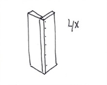 Tafel van steigerhout - Stap 5